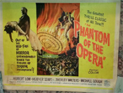 PHANTOM OF THE OPERA (1962/Hammer) - Half Sheet Original Poster