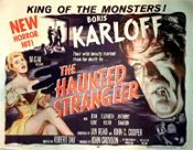 HAUNTED STRANGLER (1958/Karloff) - Original Half Sheet Poster