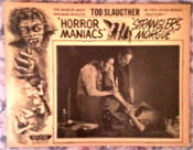HORROR MANIACS/STRANGLER'S MORGUE (1948/Strangle) - Lobby Card