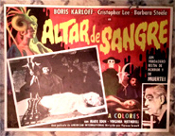 CRIMSON ALTAR (1968) - Original Mexican Lobby Card