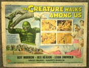 CREATURE WALKS AMONG US - 11X14 Original Title Card