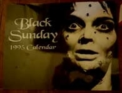 BLACK SUNDAY 1995 CALENDAR (VIDEO WATCHDOG) - Collectible