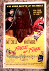 FACE OF FIRE (1959) - Originial US One Sheet