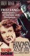 HANGMEN ALSO DIE (1943) - Used VHS