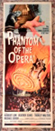 PHANTOM OF THE OPERA (1962) - Original Insert Poster