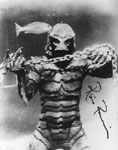 RICOU BROWNING AUTOGRAPH (Creature Chains) - 8X10 Photo