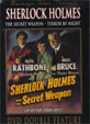 SHERLOCK HOLMES: SECRET WEAPON/TERROR BY NIGHT - Used DVD