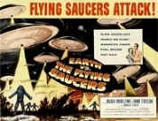 EARTH VS. THE FLYING SAUCERS - 11X14 Lobby Card Reproduction