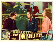 INVISIBLE RAY (Boris, Bela & Francis) - 11X14 LC Reproduction
