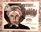 RETURN OF CHANDU (1934/Bela Lugosi) - Original Lobby Card