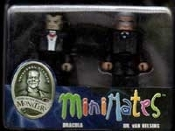 MINI MATES: DRACULA & VAN HELSING - Posable Collectibles