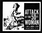 ATTACK OF THE 50 FOOT WOMAN - Collectible Denim Patch