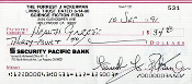 FORREST J ACKERMAN (Health Gazette) - Autographed Check