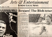 BLOB NEWSPAPER ARTICLE (Irvin Yeaworth) - Collectible