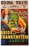 BRIDE OF FRANKENSTEIN (1935/Colonial Theater) - 11X17 Poster Rep