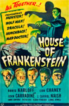HOUSE OF FRANKENSTEIN (1944) - 11X17 Poster Reproduction