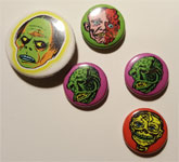 MONSTER PIN SET - 5 Color Metal Pins