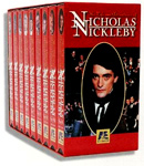 LIFE AND ADVENTURES OF NICHOLAS NICKLEBY (1995) - 9 Tape VHS Set
