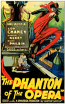 PHANTOM OF THE OPERA (1925 Red Cape) - 11X17 Poster Reproduction