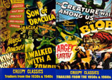 CREEPY CLASSICS TRAILERS Dbl. Pack - 2 All Region DVD-Rs
