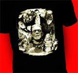 UNIVERSAL MONSTERS COLLAGE GLOW - T-Shirt