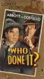 WHO DONE IT? (1942/Abbott & Costello) - VHS